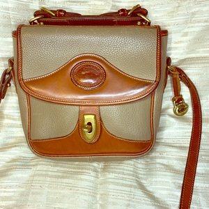 Dooney & Bourke Vintage Leather Tan Crossbody Bag
